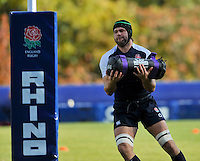 Bagshot, England. Tom Palmer of England during the England training session held at Pennyhill Park on November 8, 2012 in Bagshot, England.