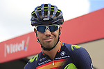 Spanish National Champion Jesus Herrada (ESP) Movistar Team at sign on in Mondorf-les-Bains before the start of Stage 4 of the 104th edition of the Tour de France 2017, running 207.5km from Mondorf-les-Bains, Luxembourg to Vittel, France. 4th July 2017.<br /> Picture: Eoin Clarke | Cyclefile<br /> <br /> <br /> All photos usage must carry mandatory copyright credit (&copy; Cyclefile | Eoin Clarke)
