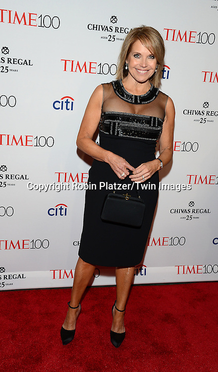 Katie Couric attends the TIME 100 Issue celebrating the 100 Most Influential People in the World on April 21, 2015 <br /> at Frederick P Rose Hall at Lincoln Center in New York City, New York, USA.<br /> <br /> photo by Robin Platzer/Twin Images<br />  <br /> phone number 212-935-0770