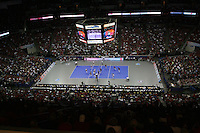 16 December 2006: The Qwest Center facility during Stanford's 30-27, 26-30, 28-30, 27-30 loss against the Nebraska Huskers in the 2006 NCAA Division I Women's Volleyball Final Four Championship match at the Qwest Center in Omaha, NE.