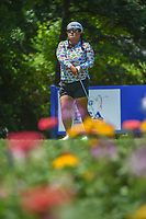 Christina Kim (USA) watches her tee shot on 13 during round 2 of the 2018 KPMG Women's PGA Championship, Kemper Lakes Golf Club, at Kildeer, Illinois, USA. 6/29/2018.<br /> Picture: Golffile | Ken Murray<br /> <br /> All photo usage must carry mandatory copyright credit (© Golffile | Ken Murray)