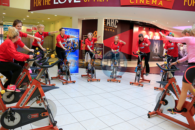 Rossi Rovers members taking part in the Charity spinathon by Integral<br /> Picture www.newsfile.ie