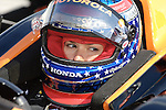 May 30 2009: IndyCar driver Danica Patrick before practice for the ABC Supply Company A.J. Foyt 225 at the Milwaukee Mile in West Allis, WI.