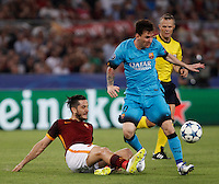 Calcio, Champions League, Gruppo E: Roma vs Barcellona. Roma, stadio Olimpico, 16 settembre 2015.<br />