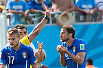 Claudio Marchisio (ITA), JUNE 24, 2014 - Football / Soccer : Claudio Marchisio (R) of Italy is shown a red card by referee during the FIFA World Cup Brazil 2014 Group D match between Italy 0-1 Uruguay at Estadio das Dunas in Natal, Brazil. (Photo by Maurizio Borsari/AFLO)