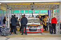 The car of Tony Stewart (#14) in inspection