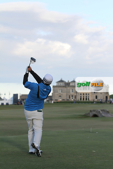 Fabrizio Zanotti (PAR) in St Andrews on the 2nd Day at the Alfred Dunhill Links Championship, Old Course St. Andrews, Carnoustie and Kingsbarns, Scotland...(Photo Jenny Matthews/www.golffile.ie)