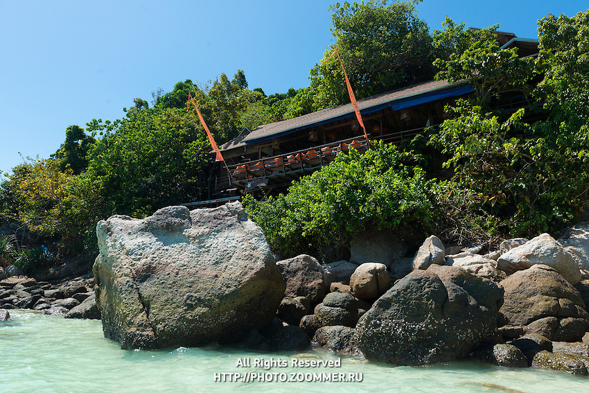 On The Rocks unusual restaurant in the trees, Ko Lipe, Thailand