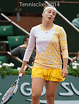 at  Roland Garros being played at Stade Roland Garros in Paris, France on May 26, 2014