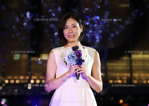 November 7, 2017, Tokyo, Japan - Japanese actress and pianist Nao Matsushita attends the lighting ceremony for the Christmas illumination at the Roppongi Hills shopping mall in Tokyo on Tuesday, November 7, 2017. Some 1.2 million LED lights along side of the Keyakizaka street will be illuminated through Christmas Day.    (Photo by Yoshio Tsunoda/AFLO) LWX -ytd-