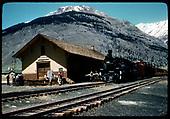#476 K-28 at Silverton depot.<br /> D&amp;RGW  Silverton, CO