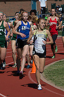 Lafayette senior Anna West runs to victory in 2:16 in the 800 at the 2016 MSHSAA Class 5 District 2 Track and Field Meet at Ladue High School, St. Louis, Saturday, May 14.