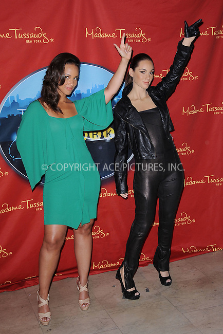 WWW.ACEPIXS.COM . . . . . .June 28, 2011...New York City...Singer Alicia Keys poses with her wax figure during the Alicia Keys Wax Figure Unveiling at Madame Tussauds on June 28, 2011 in New York City....Please byline: KRISTIN CALLAHAN - ACEPIXS.COM.. . . . . . ..Ace Pictures, Inc: ..tel: (212) 243 8787 or (646) 769 0430..e-mail: info@acepixs.com..web: http://www.acepixs.com .
