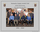 1951 to 1960 Patumahoe Rugby Club 125th Anniversary group photo, June 4th 2011.