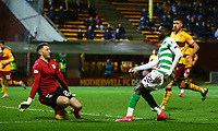 5th February 2020; Fir Park, Motherwell, North Lanarkshire, Scotland; Scottish Premiership Football, Motherwell versus Celtic; Mark Gillespie of Motherwell saves a shot from Odsonne Edouard of Celtic