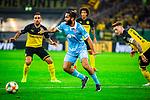 09.08.2019, Merkur Spiel-Arena, Düsseldorf, GER, DFB Pokal, 1. Hauptrunde, KFC Uerdingen vs Borussia Dortmund , DFB REGULATIONS PROHIBIT ANY USE OF PHOTOGRAPHS AS IMAGE SEQUENCES AND/OR QUASI-VIDEO<br /> <br /> im Bild | picture shows:<br /> Selim Guenduez (KFC Uerdingen #3) mit Ueberblick, <br /> <br /> Foto © nordphoto / Rauch