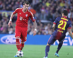 01.05.2013 Barcelona, Spain. UEFA Champions League Semi-Final 2nd leg. Picture show Mario Mandzukic in action during game between FC Barcelona Against Bayern Munchen at Camp Nou