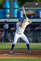 Boo Vasquez (17) of the Burlington Royals at bat against the Kingsport Mets at Burlington Athletic Stadium on July 18, 2016 in Burlington, North Carolina.  The Royals defeated the Mets 8-2.  (Brian Westerholt/Four Seam Images)