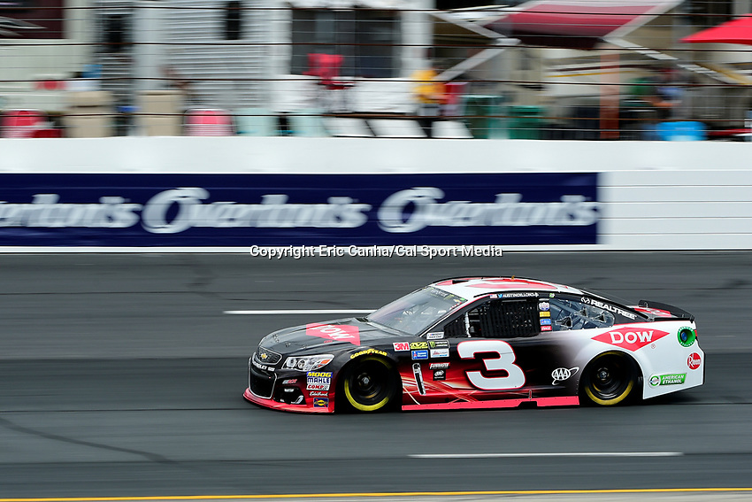 July 15, 2017 - Loudon, New Hampshire, U.S. - Austin Dillon, Monster Energy NASCAR Cup Series driver of the Dow Chevrolet (3),  runs in the NASCAR Monster Energy Overton's 301 final practice round held at the New Hampshire Motor Speedway in Loudon, New Hampshire. Larson placed first in the qualifier. Eric Canha/CSM
