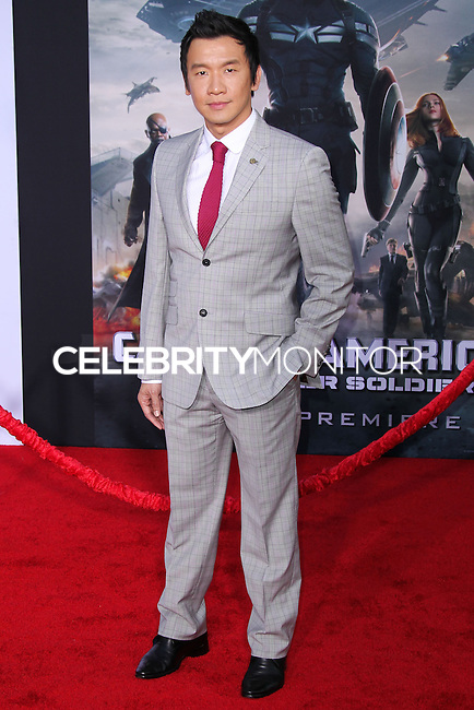 "HOLLYWOOD, LOS ANGELES, CA, USA - MARCH 13: Chin Han at the World Premiere Of Marvel's ""Captain America: The Winter Soldier"" held at the El Capitan Theatre on March 13, 2014 in Hollywood, Los Angeles, California, United States. (Photo by Xavier Collin/Celebrity Monitor)"