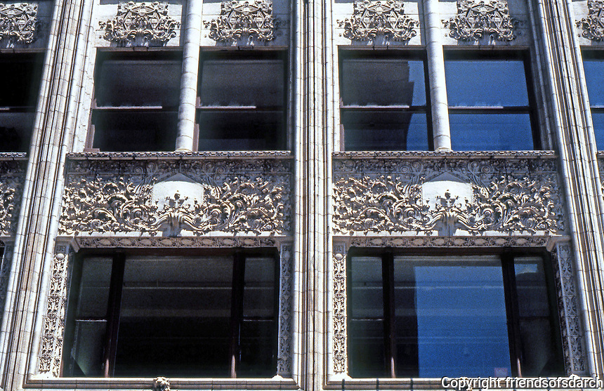 Louis Sullivan: Bayard Bldg.--Detail of Windows.  Photo '85.