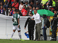 PASTO - COLOMBIA, 10-03-2019: Lucas Pusineri técnico del Cali gesticula durante partido por la fecha 9 de la Liga Águila I 2019 entre Deportivo Pasto y Deportivo Cali jugado en el estadio Estadio Municipal de Ipiales. / Lucas Pusineri coach of Cali gestures during match for the date 9 as part of Aguila League I 2019 between Deportivo Pasto and Deportivo Cali played at Municipal stadium of Ipiales.  Photo: VizzorImage / Leonardo Castro / Cont