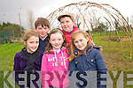 Ciara O'Sullivan, Tim Coffey, Nicola English, Jack Coffey and Emma Coffey, fourth class, Cullina National School, pictured at the willow dome which was built with the assistance of Kerry Earth Education in conjunction with the schools bio diversity theme for their Green Flag project.