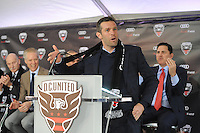 "Washington D.C. - February 27, 2017: Groundbreaking ceremony for the new stadium for D.C. United ""Audi Field"" in the Southwest Waterfront District at Navy Yard which is scheduled to open 2018."