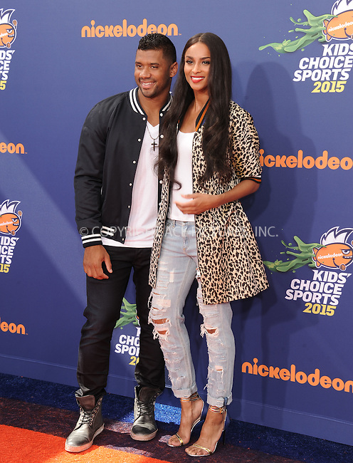 WWW.ACEPIXS.COM<br /> <br /> July 16 2015, LA<br /> <br /> Russell Wilson and Ciara arriving at the Nickelodeon Kids' Choice Sports Awards 2015 at UCLA's Pauley Pavilion on July 16, 2015 in Westwood, California.<br /> <br /> By Line: Peter West/ACE Pictures<br /> <br /> <br /> ACE Pictures, Inc.<br /> tel: 646 769 0430<br /> Email: info@acepixs.com<br /> www.acepixs.com