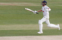 Sam Cook of Essex celebrates hitting the winning runs during Essex CCC vs Kent CCC, Bob Willis Trophy Cricket at The Cloudfm County Ground on 4th August 2020