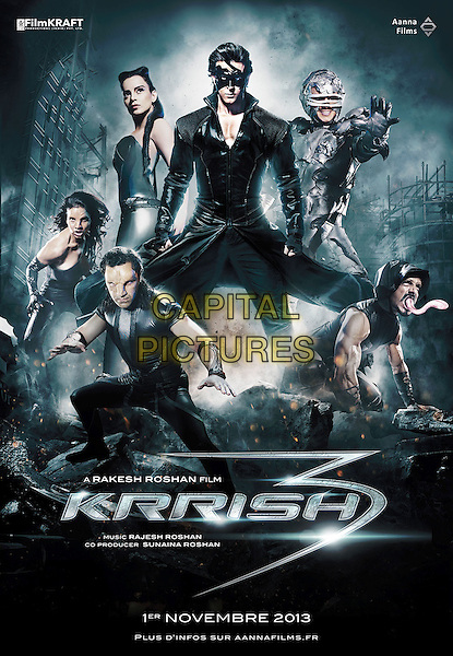 POSTER ART<br /> in Krrish 3 (2013) <br /> (Defender)<br /> *Filmstill - Editorial Use Only*<br /> CAP/NFS<br /> Image supplied by Capital Pictures