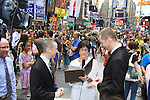 As The World Turns' Colleen Zenk is ordained Universal Life Church minister who officiated the wedding of We Love Soaps Kevin Mulcahy Jr and Roger Newcomb on August 18, 2012 in Times Square, New York City, New York. (Photos by Sue Coflin/Max Photos)