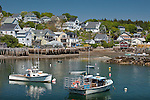 The fishing village of Stonington, ME, USA