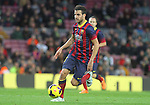 05.01.2014 Barcelona, Spain. La Liga day 18. Picture show Cesc Fabregas in action during game between FC Barcelona against Elche at Camp Nou