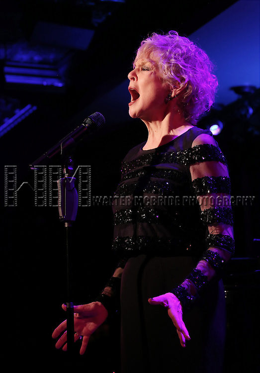 "Penny Fuller performs A Special Press Preview of her upcoming show ""54 Below sings Applause""  at 54 Below on April 4, 2014 in New York City."