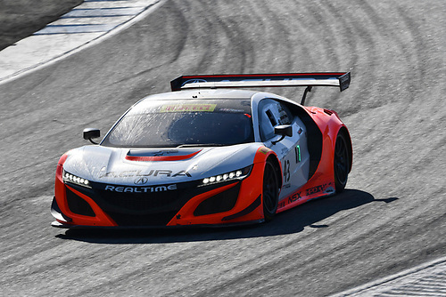 Pirelli World Challenge<br /> Intercontinental GT Challenge California 8 Hours<br /> Mazda Raceway Laguna Seca<br /> Sunday 15 October 2017<br /> Ryan Eversley, Tom Dyer, Dane Cameron, Acura NSX GT3, GT3 Overall<br /> World Copyright: Richard Dole<br /> LAT Images<br /> ref: Digital Image RD_PWCLS17_222