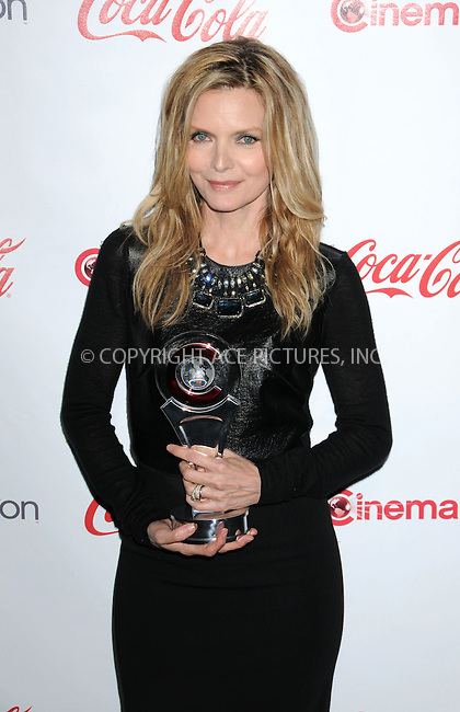WWW.ACEPIXS.COM . . . . .  ..... . . . . US SALES ONLY . . . . .....April 26 2012, Las Vegas....Michelle Pfeiffer at the CinemaCon Awards held at Caesars Palace Hotel on April 26 2012 in Las Vegas....Please byline: FAMOUS-ACE PICTURES... . . . .  ....Ace Pictures, Inc:  ..Tel: (212) 243-8787..e-mail: info@acepixs.com..web: http://www.acepixs.com