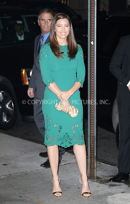 WWW.ACEPIXS.COM<br /> <br /> October 22 2015, New York City<br /> <br /> Actress Jessica Biel arriving at the 2015 Fashion Group International's Night Of Stars at Cipriani Wall Street on October 22, 2015 in New York City.<br /> <br /> By Line: Zelig Shaul/ACE Pictures<br /> <br /> <br /> ACE Pictures, Inc.<br /> tel: 646 769 0430<br /> Email: info@acepixs.com<br /> www.acepixs.com