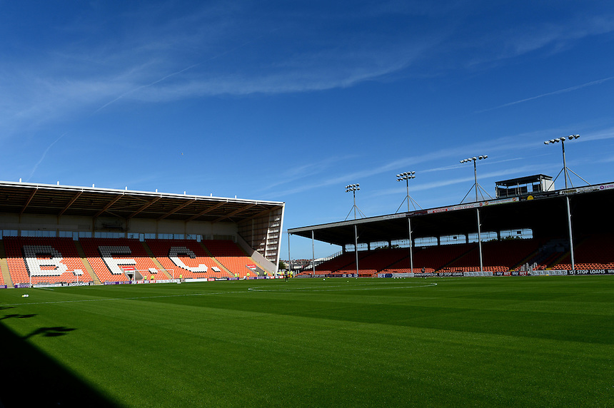 General View of Bloomfield Road Stadium<br /> <br /> Photographer Richard Martin-Roberts/CameraSport<br /> <br /> The EFL Sky Bet League Two - Blackpool v Carlisle United - Saturday 17 September 2016 - Bloomfield Road - Blackpool<br /> <br /> World Copyright &copy; 2016 CameraSport. All rights reserved. 43 Linden Ave. Countesthorpe. Leicester. England. LE8 5PG - Tel: +44 (0) 116 277 4147 - admin@camerasport.com - www.camerasport.com