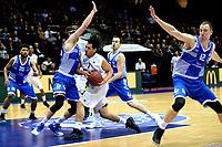 GRONINGEN - Basketbal, Donar - Landstede Zwolle , Martiniplaza,  halve finale beker, seizoen 2017-2018, 13-02-2018,  Donar speler Sean Cunningham wordt tegengehouden door Landstede speler Noah Dahlman