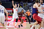 Real Madrid's Luka Doncic and FC Barcelona Lassa's Alex Renfroe during Liga Endesa match between Real Madrid and FC Barcelona Lassa at Wizink Center in Madrid, Spain. March 12, 2017. (ALTERPHOTOS/BorjaB.Hojas)