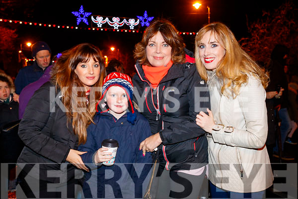 Tammy, Daire James, Maureen and Laura Lee Curtin at the Fireworks in Tralee on New Years Eve.