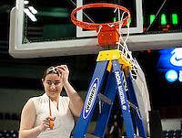 SPOKANE, WA - MARCH 28, 2011: Lauren Greif, Stanford Women's Basketball vs Gonzaga, NCAA West Regional Finals at the Spokane Arena on March 28, 2011.