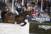 28th September 2017, Real Club de Polo de Barcelona, Barcelona, Spain; Longines FEI Nations Cup, Jumping Final; Majid AL QASSIMI Shk (UAE) riding Celtion during the first round of the Nations Cup