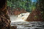 Superior Falls is located on the border between Wisconsin and the UP of Michigan, near the city of Hurley, Wisconsin.