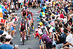 The lead group with Nicolas Roche (IRL) BMC on the front climb during Stage 15 of the 104th edition of the Tour de France 2017, running 189.5km from Laissac-Severac l'Eglise to Le Puy-en-Velay, France. 16th July 2017.<br /> Picture: ASO/Alex Broadway   Cyclefile<br /> <br /> <br /> All photos usage must carry mandatory copyright credit (&copy; Cyclefile   ASO/Alex Broadway)