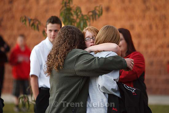A memorial service was held at American Fork High School Sunday, October 11 2009 to pay tribute to teacher Heather Christensen, who died in a bus crash after attempting to re-gain control of the bus.