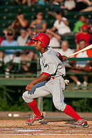 May 6 2010: Anthony Gose (24) of the Clearwater Threshers during a game vs. the Daytona Cubs at Jackie Robinson Ballpark in Daytona Beach, Florida. Clearwater, the Florida State League High-A affiliate of the Philadelphia Phillies, won the game against Daytona, affiliate of the Chicago Cubs, by the score of 8-3.  Photo By Scott Jontes/Four Seam Images