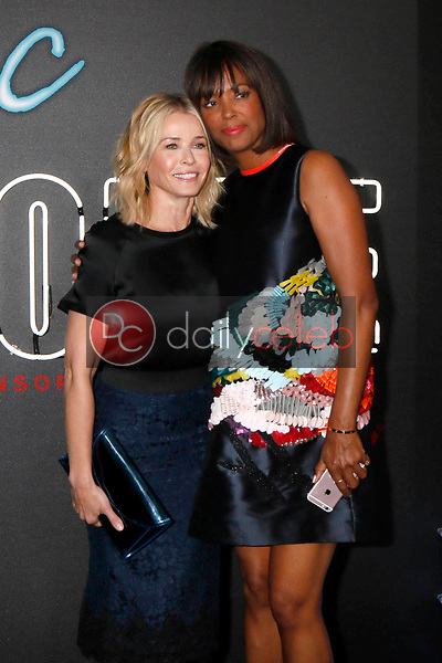 """Chelsea Handler, Aisha Tyler<br /> at the """"Atomic  Blonde"""" Premiere, Theater at the Ace Hotel, Los Angeles, CA 07-24-17<br /> David Edwards/DailyCeleb.com 818-249-4998"""