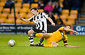 ST MIRREN'S PAUL MCGOWAN IS CHALLENGED BY MOTHERWELL'S STEPHEN CRAIGAN ...17/12/2011 sct_jsp023_motherwell_v_st_mirren     .Copyright  Pic : James Stewart.James Stewart Photography 19 Carronlea Drive, Falkirk. FK2 8DN      Vat Reg No. 607 6932 25.Telephone      : +44 (0)1324 570291 .Mobile              : +44 (0)7721 416997.E-mail  :  jim@jspa.co.uk.If you require further information then contact Jim Stewart on any of the numbers above.........